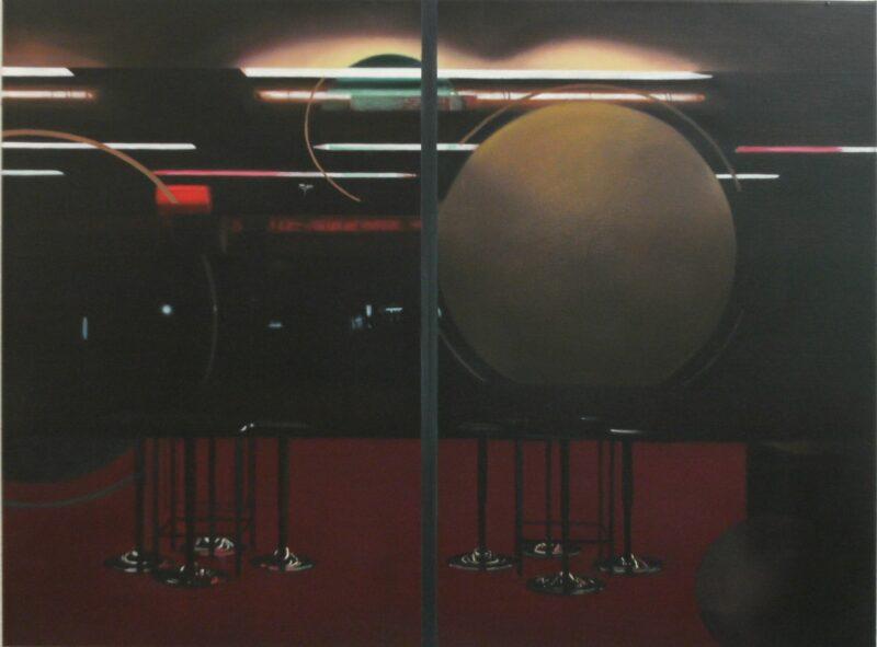 18.02 Uhr, 2009, Öl auf Leinwand 90 x 120 cm von Andrea Eitel