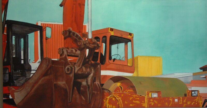 Baggerschaufel, 2000, Öl auf Leinwand 80 x 150 cm von Andrea Eitel