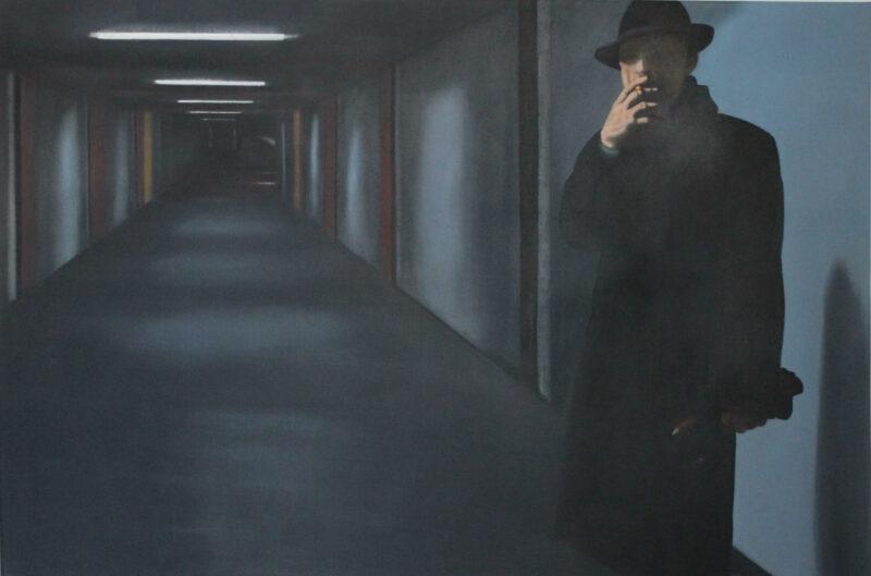 Dunkelmann, 2009, Öl auf Leinwand 100 x 150 cm von Andrea Eitel