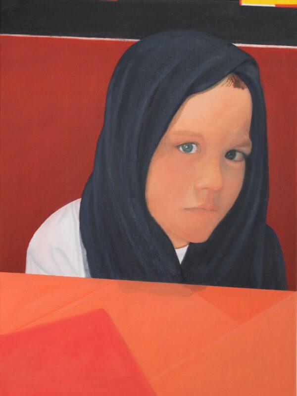 Anatol schmollt, 2017, Malerei von Andrea Eitel