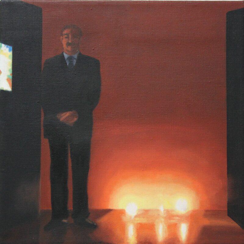 Ankündigung, 2009, Malerei von Andrea Eitel