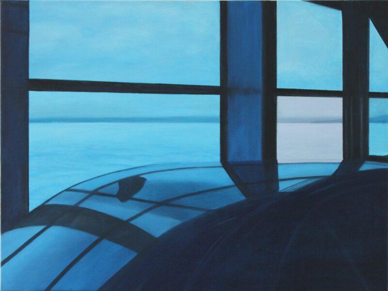 Auf der Fähre, 2010, Malerei von Andrea Eitel