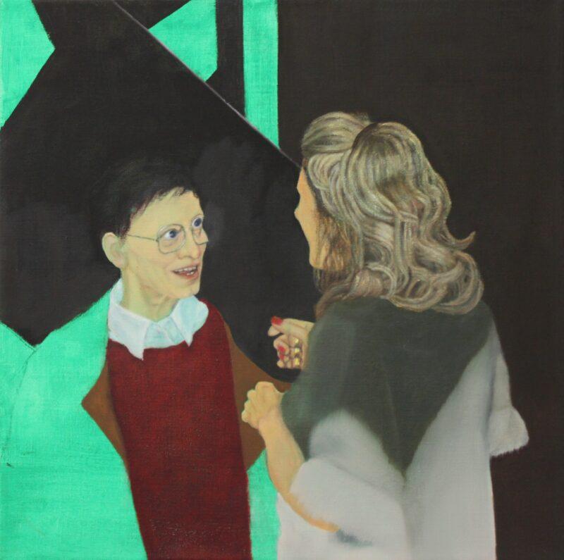 Begrüßung, 2000, Malerei von Andrea Eitel