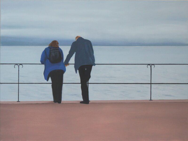Gespräch, 2000,  Malerei von Andrea Eitel