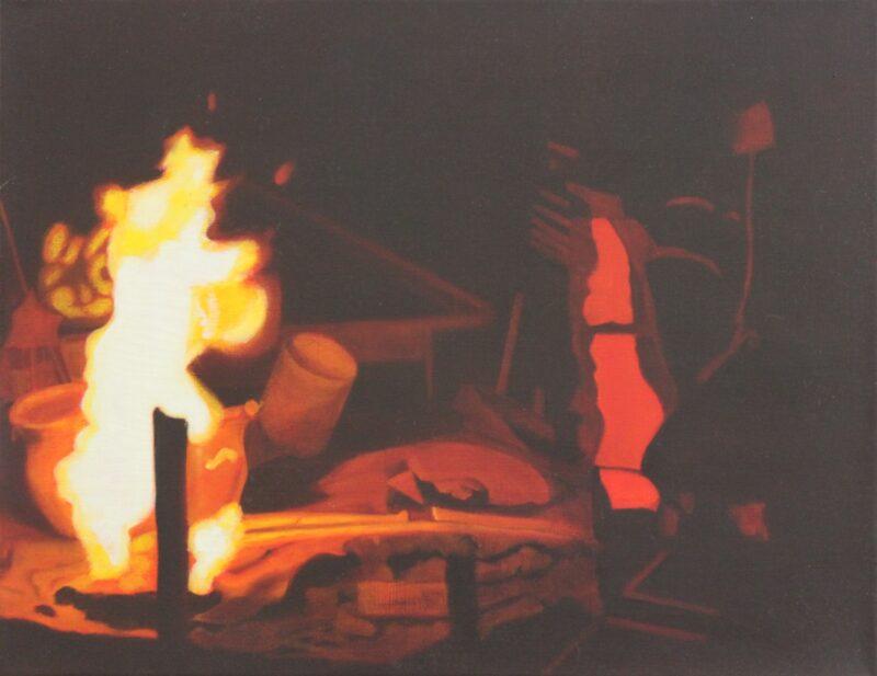 Gießerei 1, 1999, Malerei von Andrea Eitel