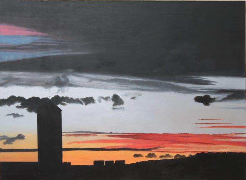 Himmel über Freiburg, 2016, Malerei von Andrea Eitel