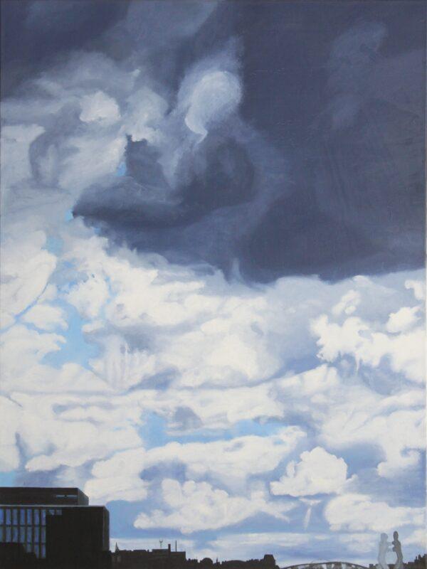 Himmel über Berlin, 2007, Malerei von Andrea Eitel