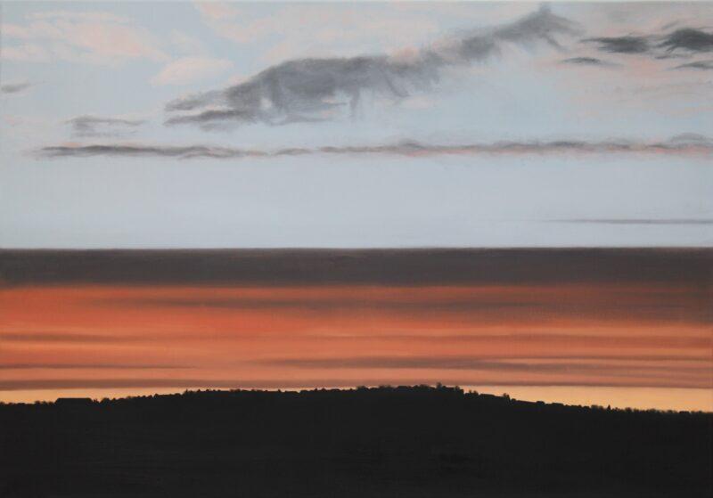 Himmel über Stuttgart, 2014, Malerei von Andrea Eitel