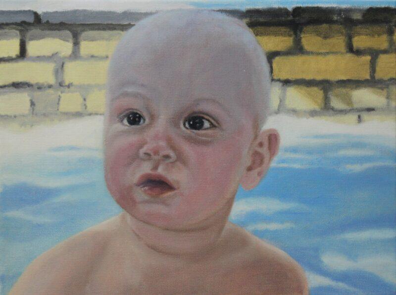 Im Sandkasten, 2008, Malerei von Andrea Eitel