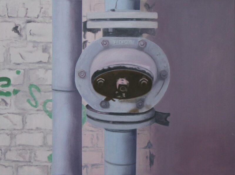 Rohre, 2007, Malerei von Andrea Eitel
