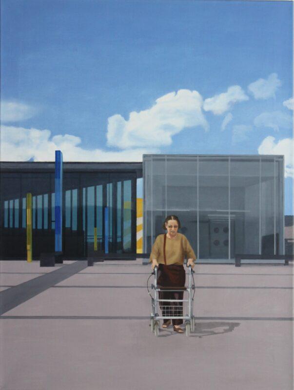 Rollfeld, 2008, Malerei von Andrea Eitel