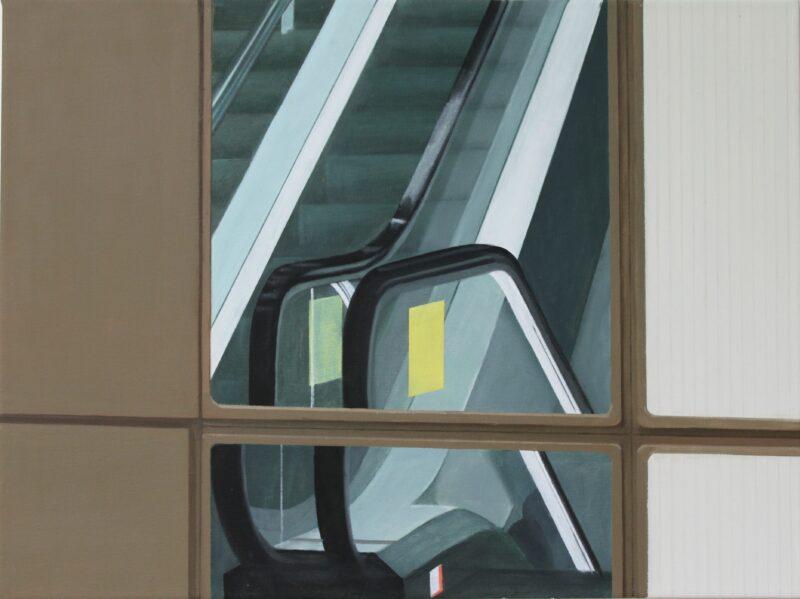 Rolltreppe, 2013, Malerei von Andrea Eitel