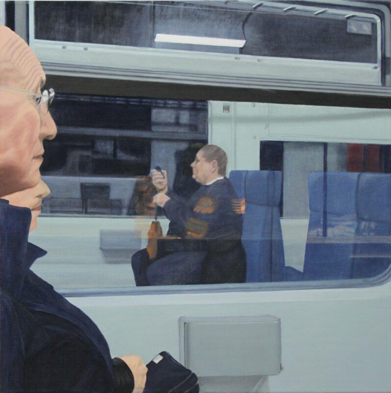 S-Bahn, 2003, Malerei von Andrea Eitel