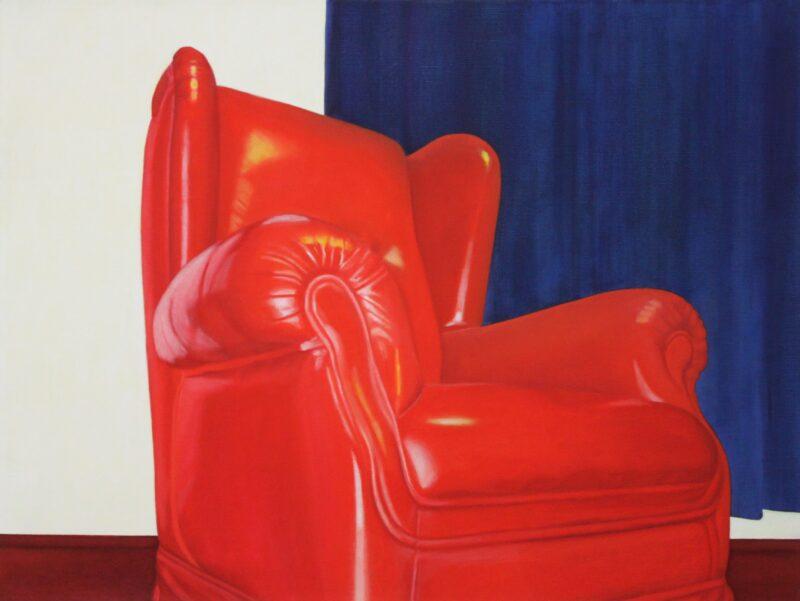 Sesselin, 2001, Malerei von Andrea Eitel
