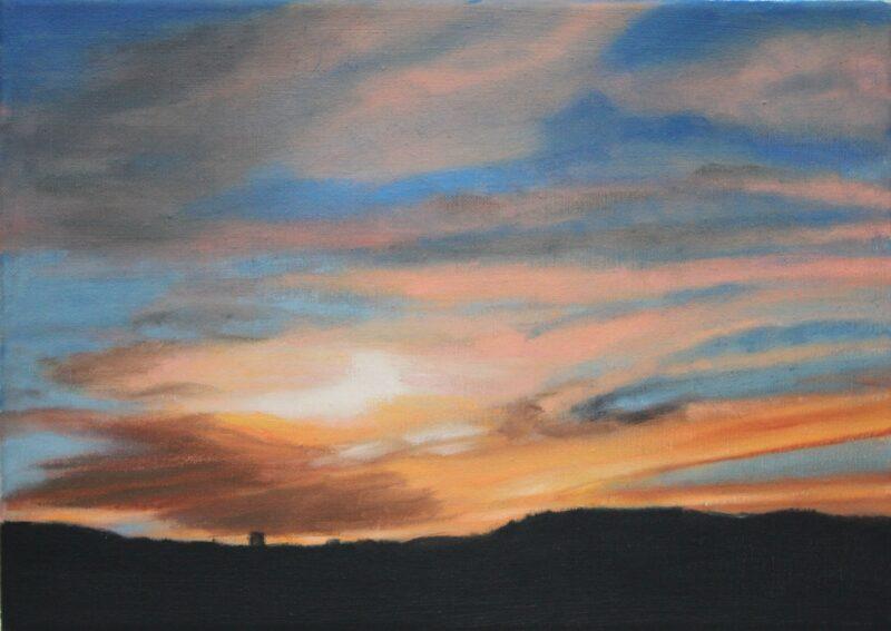 Sonnenuntergang, 2018, Malerei von Andrea Eitel