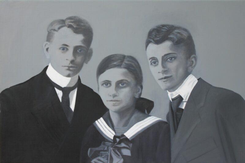 Geschwister, 2020, Malerei von Andrea Eitel