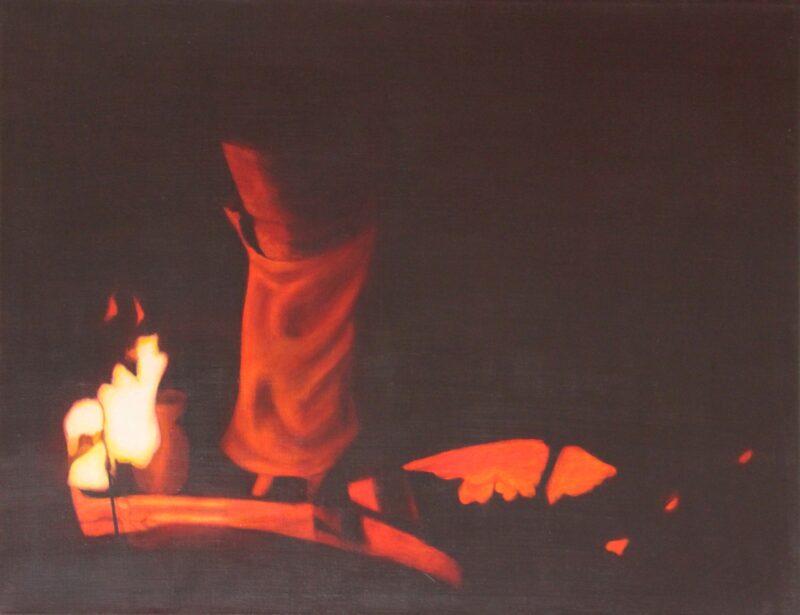 Gießerei 3, 1999, Malerei von Andrea Eitel
