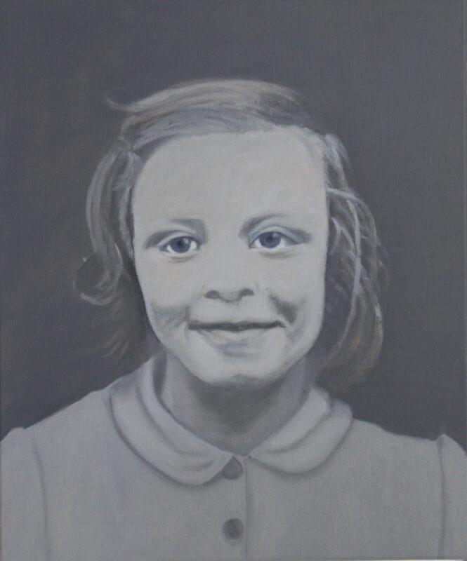 Ich, 8 Jahre alt, 2018, Malerei von Andrea Eitel