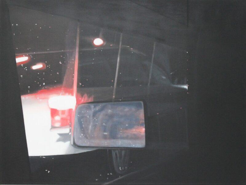 Rückspiegel, 2006, Malerei von Andrea Eitel
