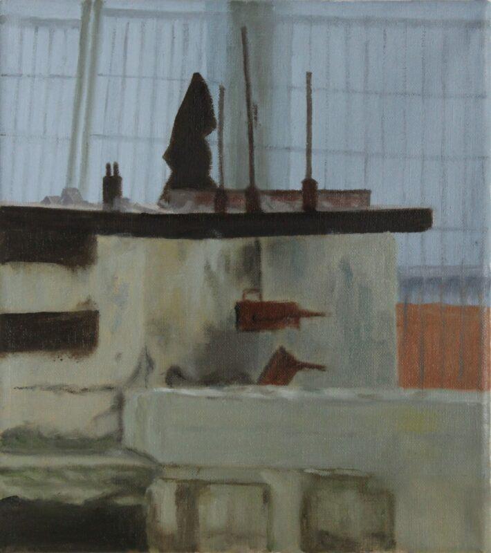 Abbruch, 2020, Malerei von Andrea Eitel