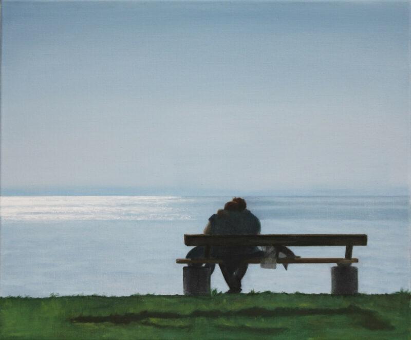 Am See, 2013, Öl auf Leinwand 50 x 60 cm von Andrea Eitel