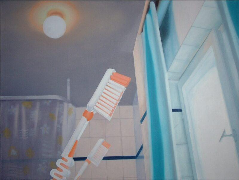 Bad, 2003, Öl auf Leinwand 90 x 120 cm von Andrea Eitel