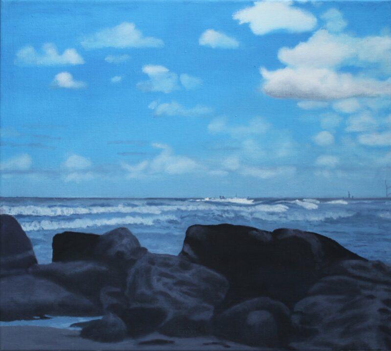Blankenberge 12°, 2009, Malerei von Andrea Eitel
