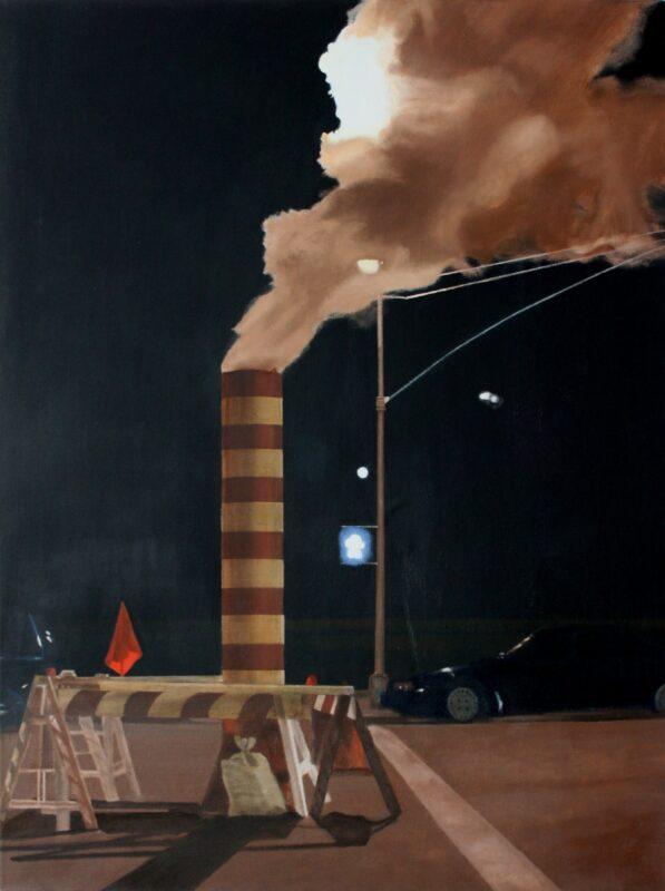 Dampf, 2007, Malerei von Andrea Eitel