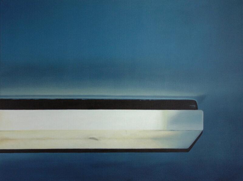 Deckenleuchte, 2002, Öl auf Leinwand 90 x 120 cm von Andrea Eitel