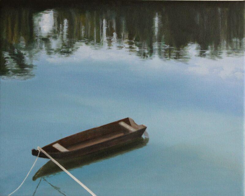 Donau so blue, 2009, Öl auf Leinwand 40 x 50 cm von Andrea Eitel