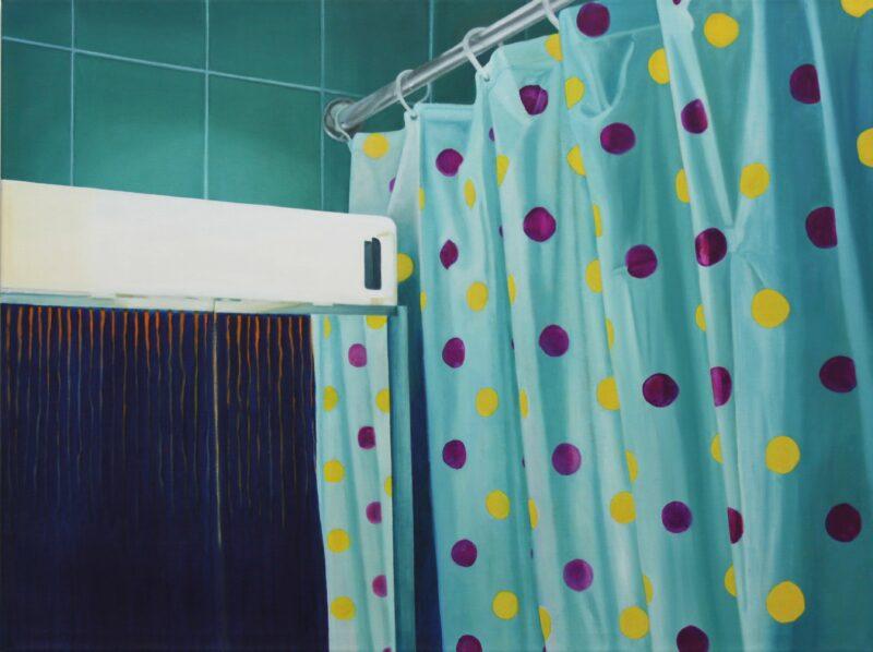 Duschvorhang, 2001, Malerei von Andrea Eitel