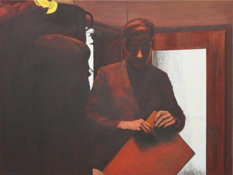 Ein Gespräch, 2000, Malerei von Andrea Eitel