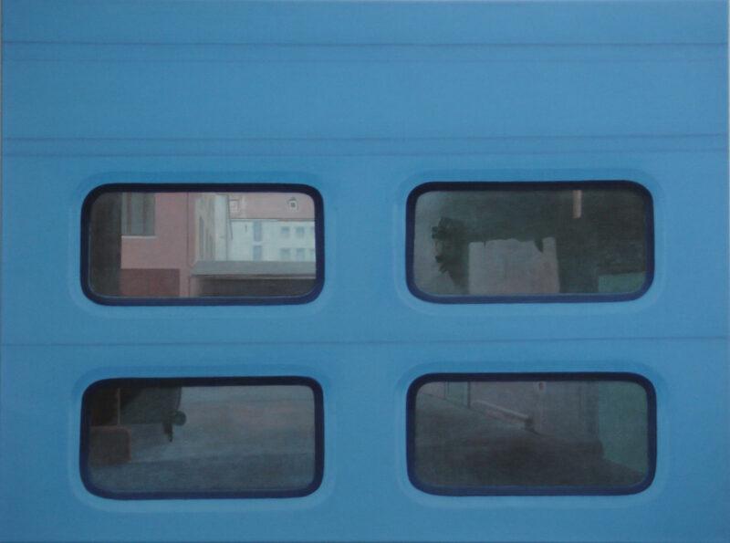 Einblick, 2005, Öl auf Leinwand 90 x120 cm von Andrea Eitel