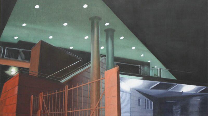 Einfahrt, 2004, Malerei von Andrea Eitel