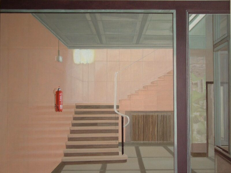 Feuerlöscher, 2004, Öl auf Leinwand 90 x 120 cm von Andrea Eitel
