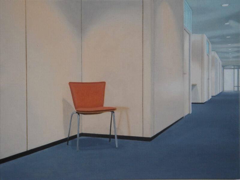 Flur, 2005, Öl auf Leinwand 60 x 80 cm von Andrea Eitel