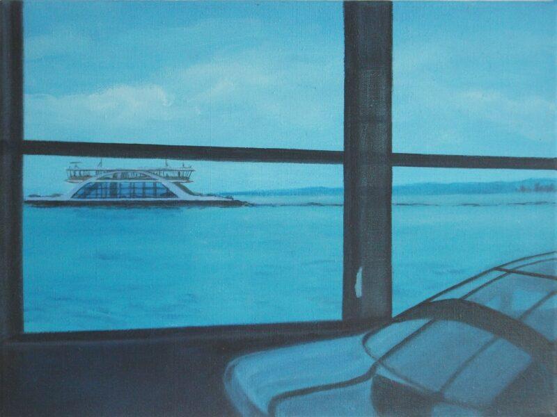 Gegenbewegung, 2011, Malerei von Andrea Eitel