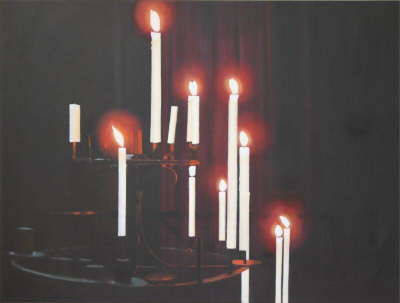 Kerzen, 2015, Malerei von Andrea Eitel