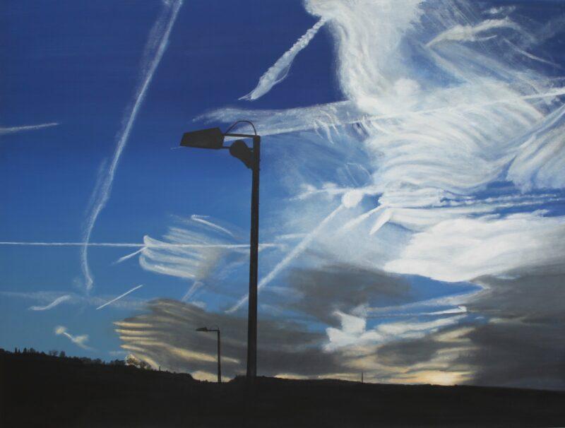 Kondensstreifen, 2016, Malerei von Andrea Eitel