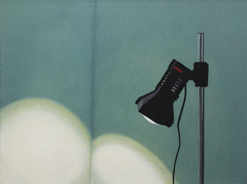 Lampe, 2001, Malerei von Andrea Eitel