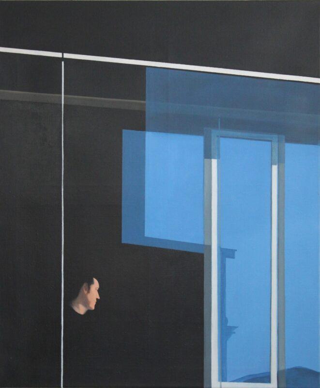 Mann in Schwarz, 2010, Malerei von Andrea Eitel