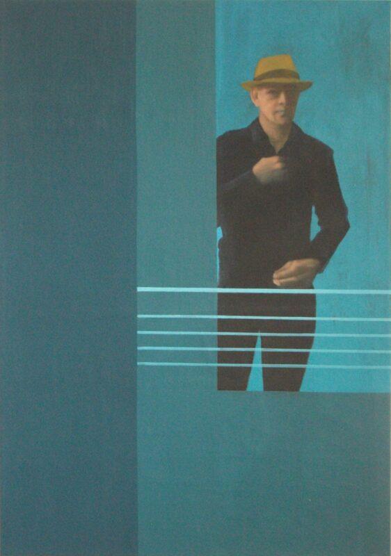 Mann mit Hut, 2010, Malerei von Andrea Eitel