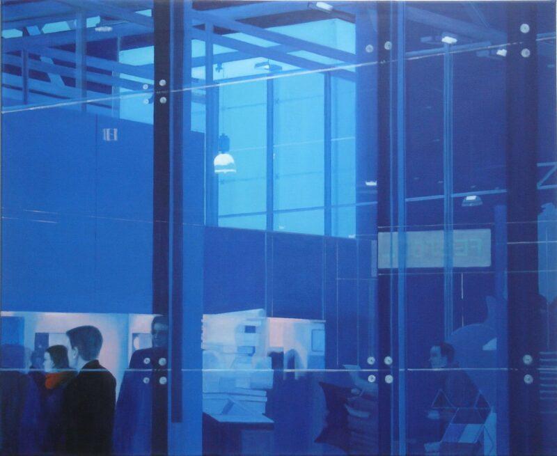 Messe, 2008, Öl auf Leinwand 90 x 110 cm von Andrea Eitel