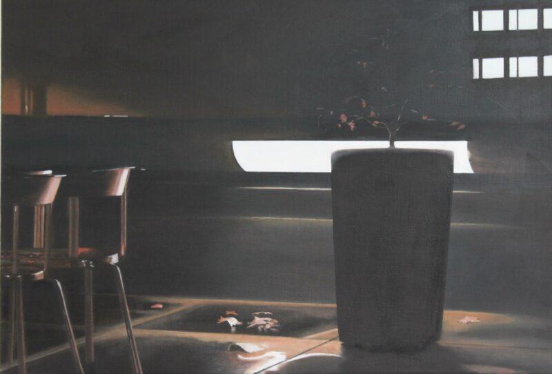 Nachtasyl, 2012, Öl auf Leinwand 70 x 100 cm von Andrea Eitel