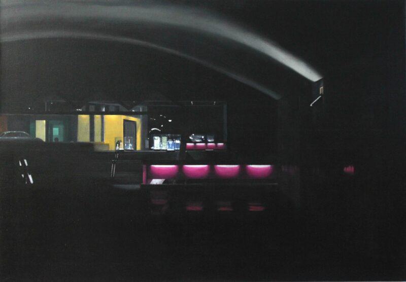 Nocturne, 2011, Öl auf Leinwand 90 x 130 cm von Andrea Eitel