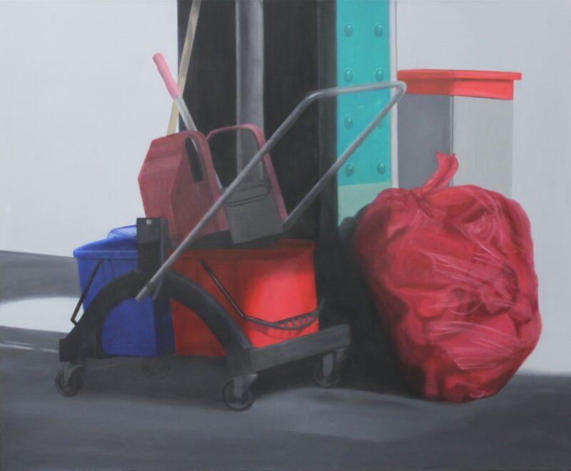Putzwagen, 2012, Malerei von Andrea Eitel