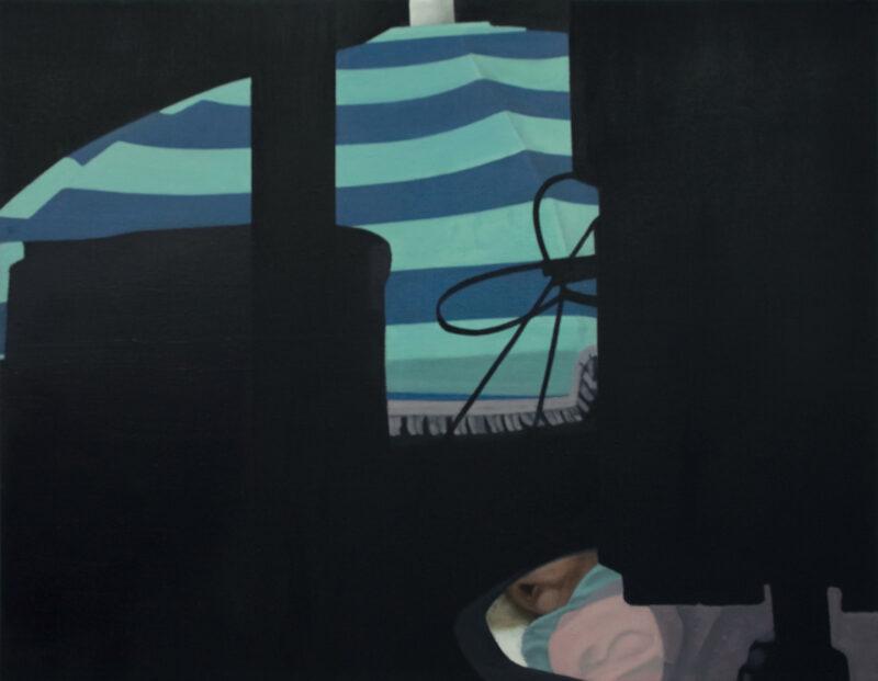 Schirm, 2006, Malerei von Andrea Eitel