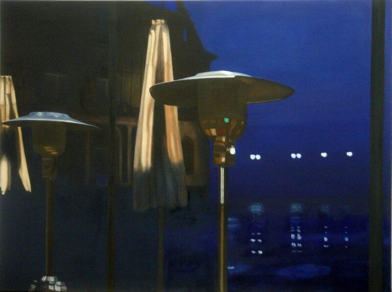 Schlossplatz, 2005, Öl auf Leinwand 90 x 120 cm von Andrea Eitel