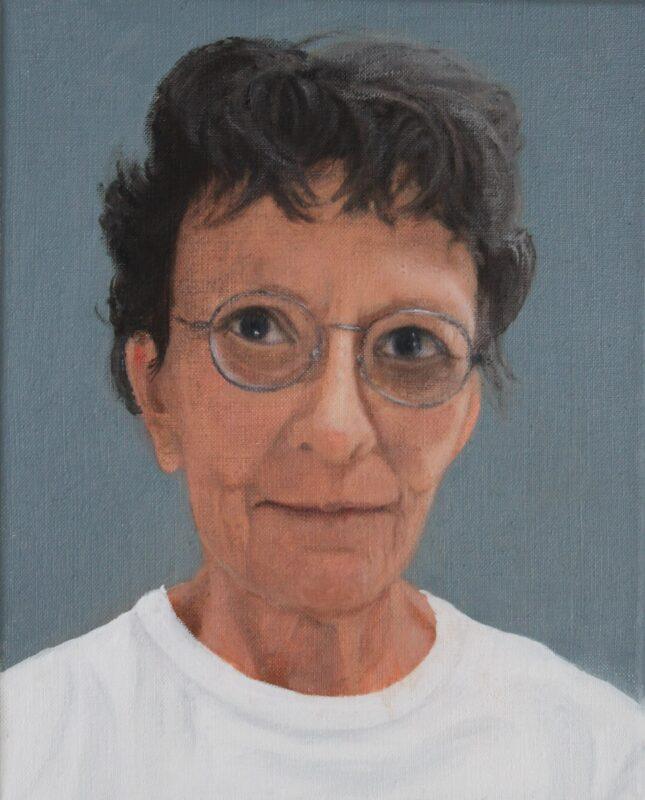 Selbst mit Locken, 2021, Öl auf Leinwand 30 x 24 cm von Andrea Eitel