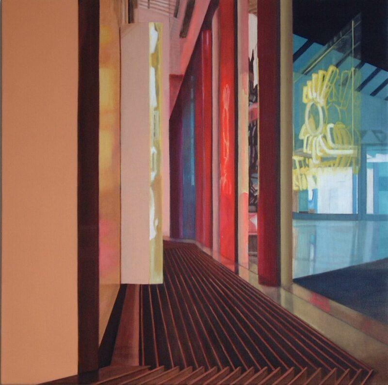 Sonnenstudio, 2002, Öl auf Leinwand 90 x 90 cm von Andrea Eitel